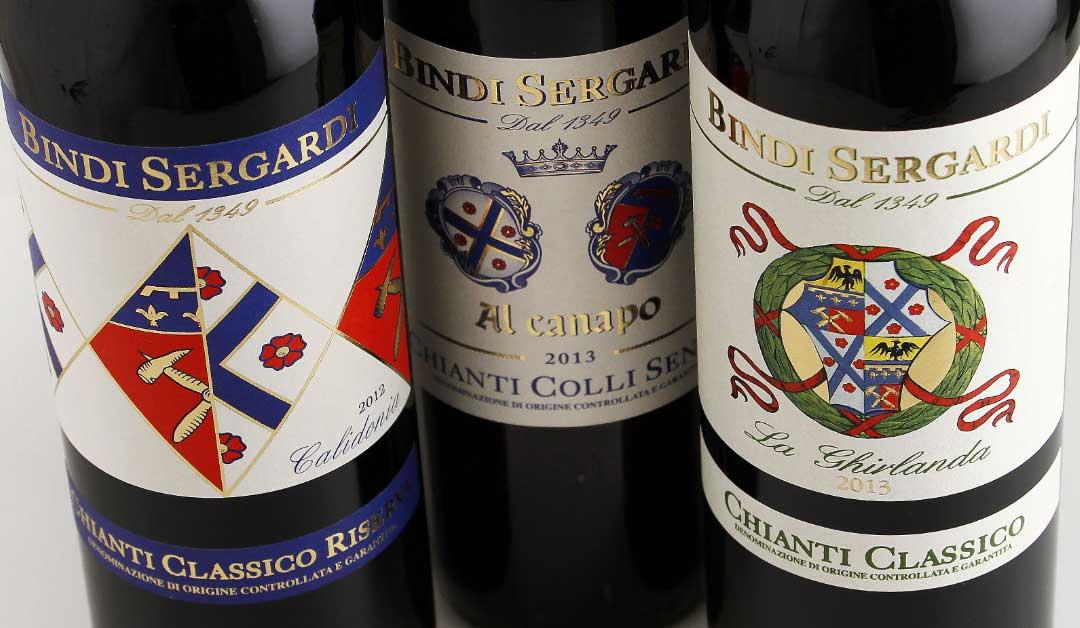 Calidonia, al canapo e La Ghirlanda - Vini dell'azienda Bindi Sergardir