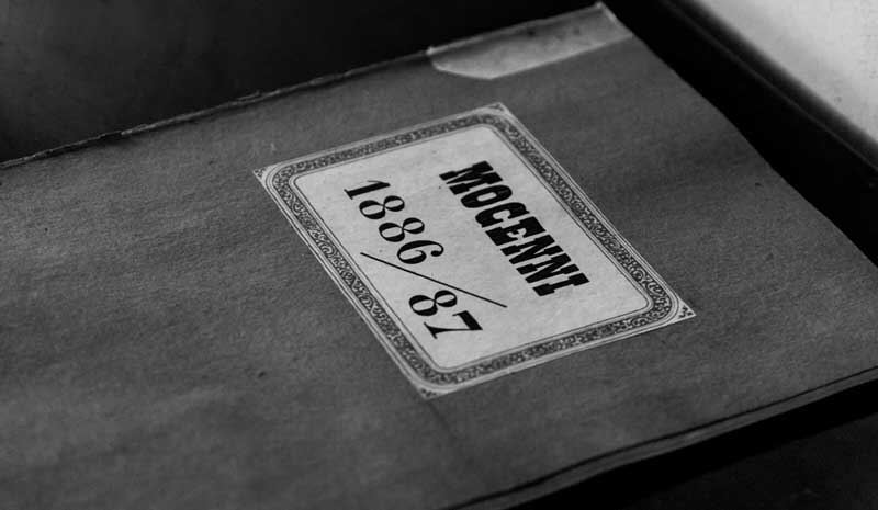 Libro con le stime anni 1886/1887 di Tenuta Mocenni